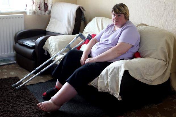 The Northern Echo: HOUSE BOUND: Pamela Johnson, of Ferryhill, who has been told that she is fit for work.