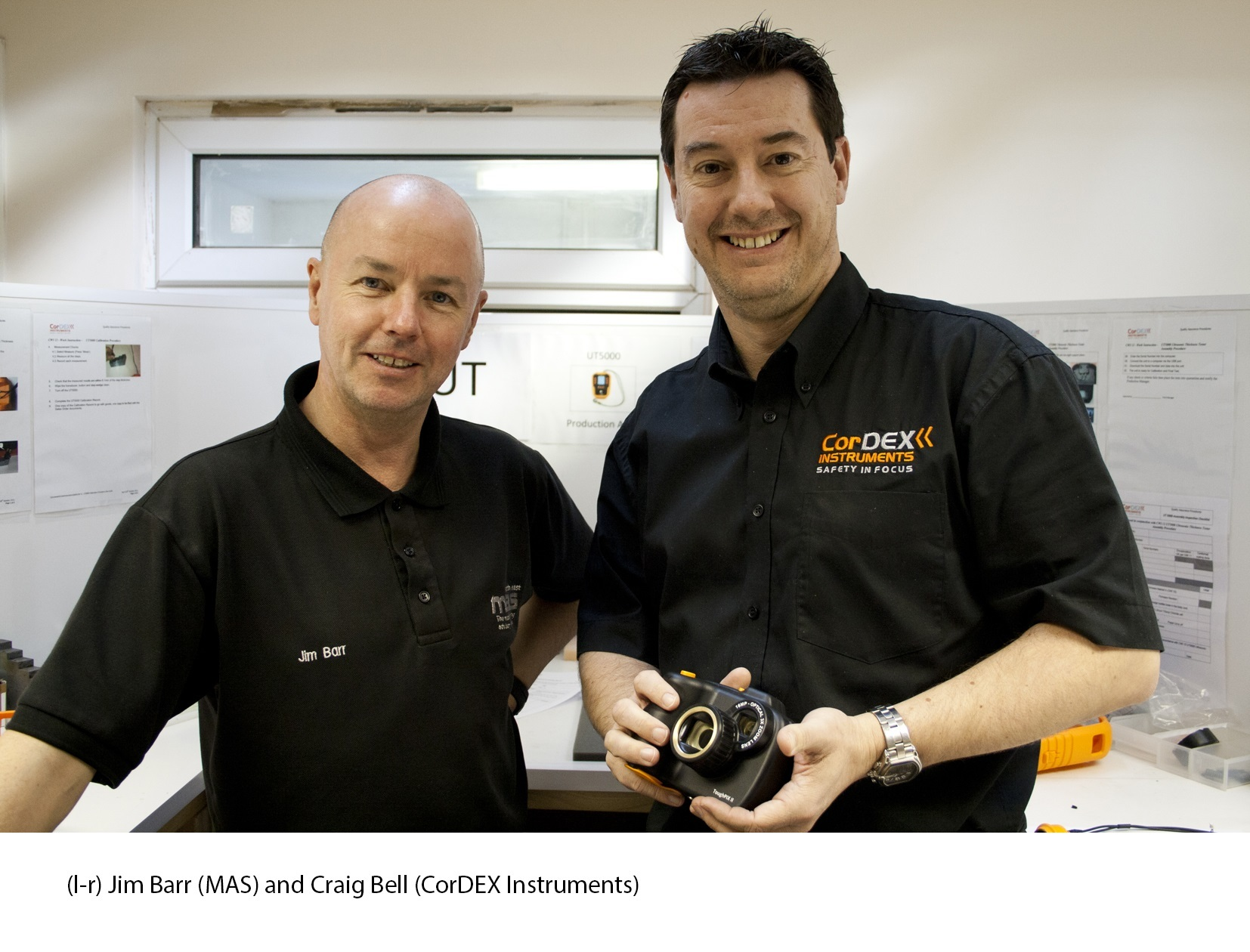 PICTURE PEREFCT: From left to right: Jim Barr (MAS) and Craig Bell (CorDEX Instruments)
