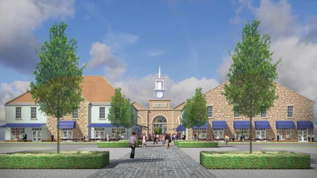 The Northern Echo: DESIGNER OUTLET: An artist's impression of the new designer village at Scotch Corner