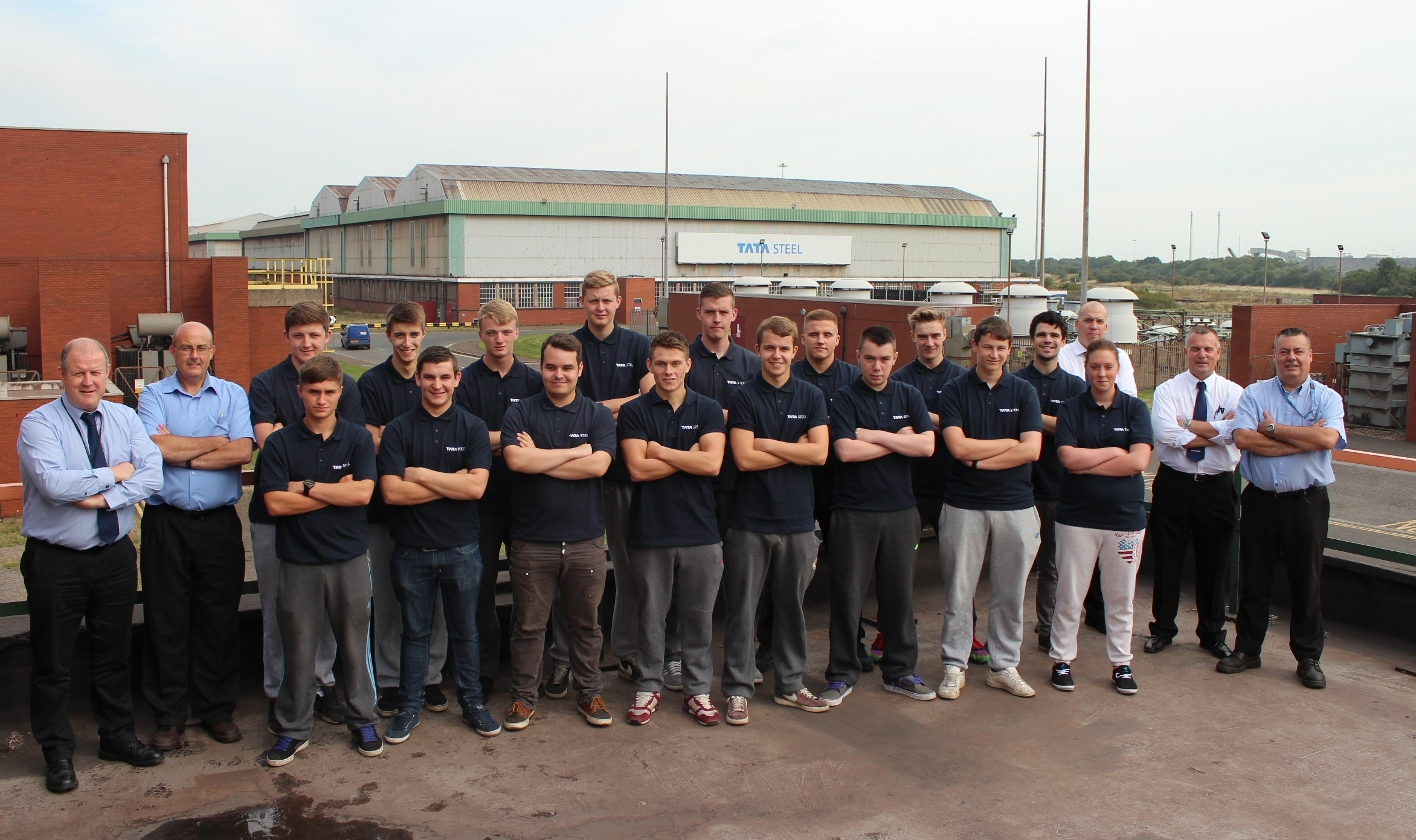 The new Tata Steel apprentices with TTE and Tata staff.