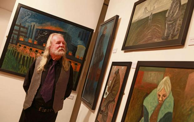 ART EXHIBITION: Artist David Watson opens his new exhibition at Bishop Auckland Town Hall. Picture SARAH CALDECOTT