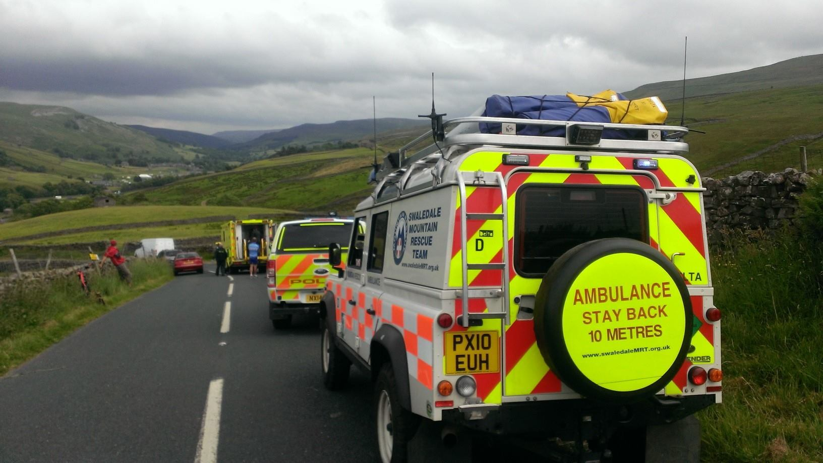 Three cyclists taken to hospital after two accidents on Buttertubs Pass