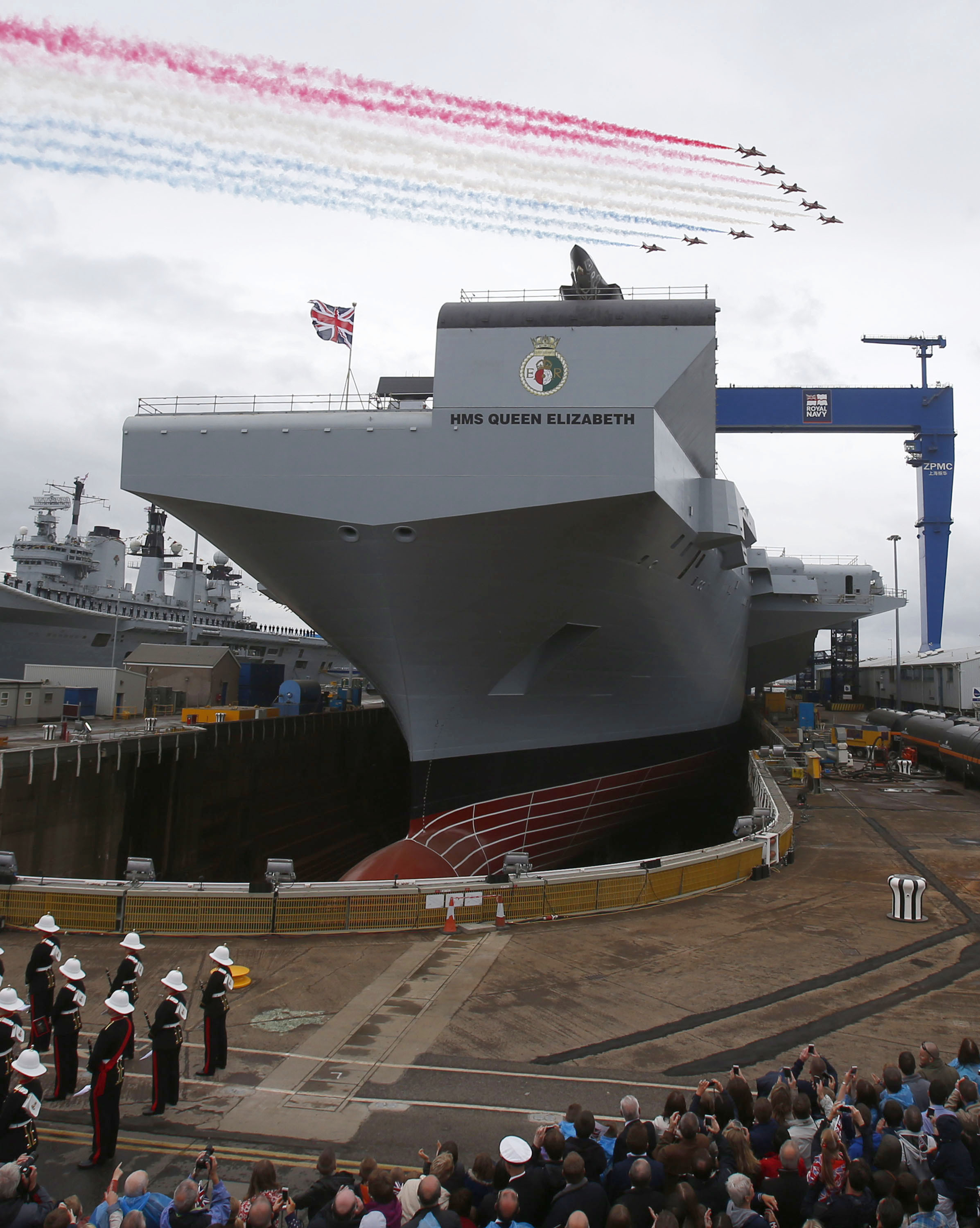 North-East steel builds UK's largest warship