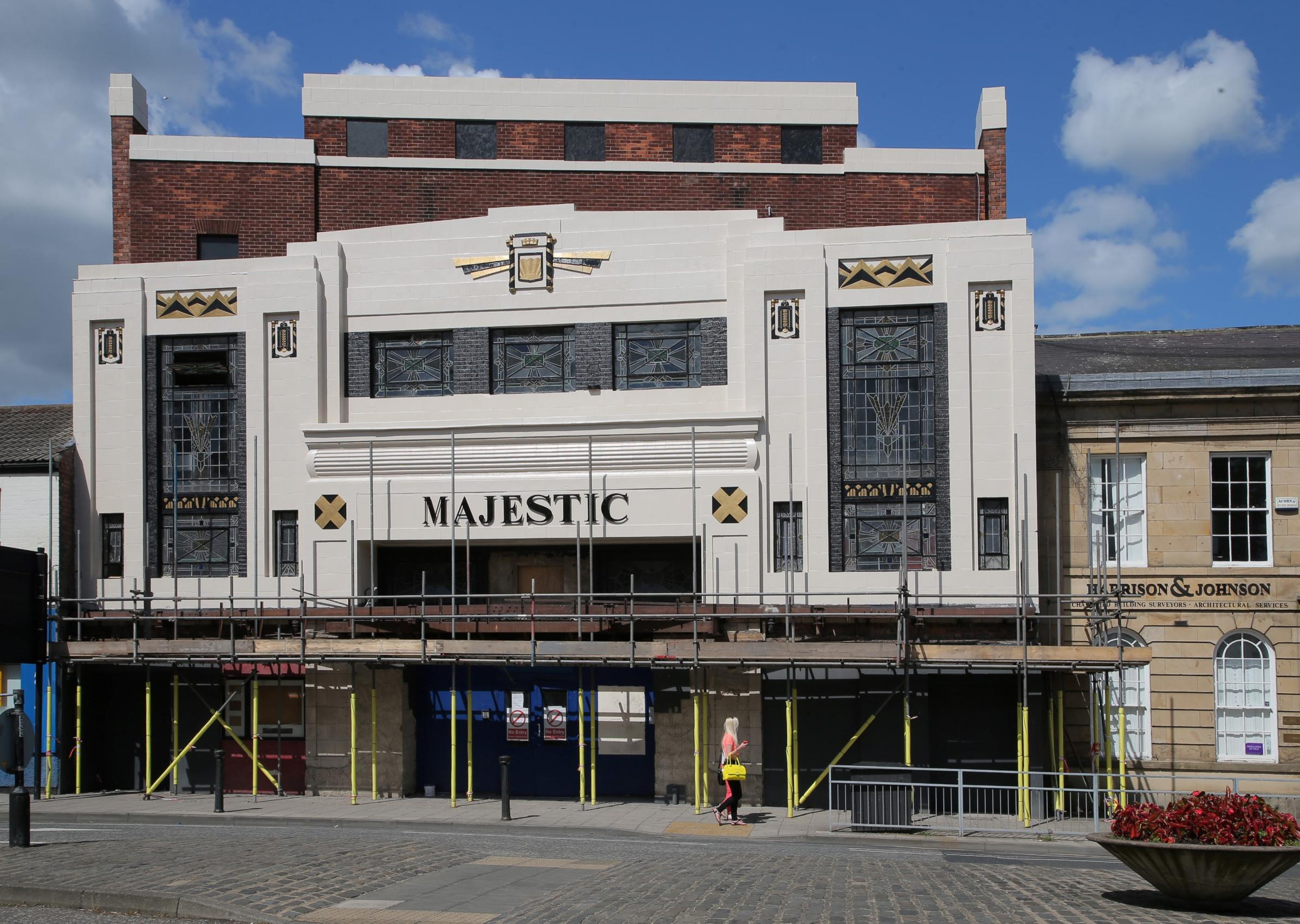 VINTAGE LOOK: The old Majestic cinema at Bondgate, Darlington in its current stage of restoration.     Picture: ANDY LAMB (7890383)