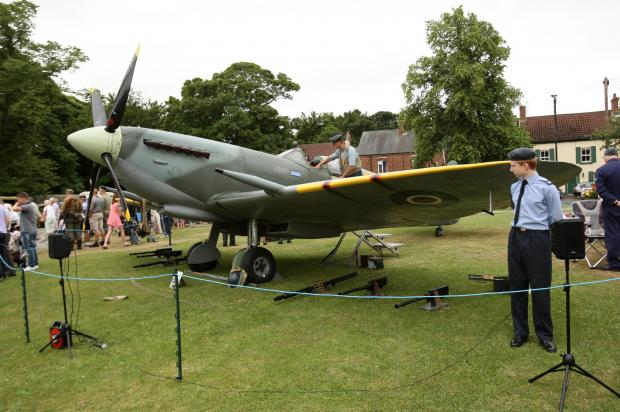 The Northern Echo: HISTORY REPEATED: A replica spitfire on show at last year's event