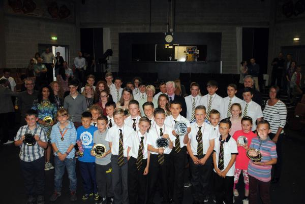 YOUNG STARS: Award recipients in the recent Darlington Sports Winners awards