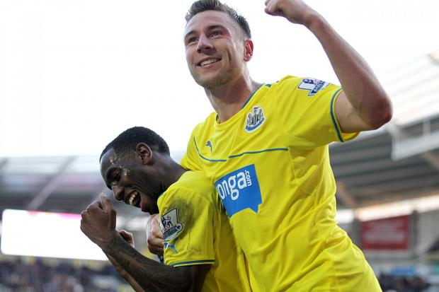 LOAN STAR: Paul Dummett (right) will be allowed to leave Newcastle United to join a Championship club on loan in the first half of next season
