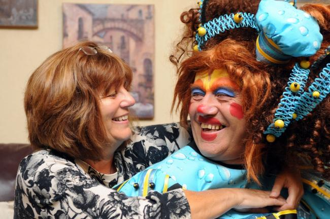 Pantomime lovers: Jan and Bob Stott at the Customs House, South Shields