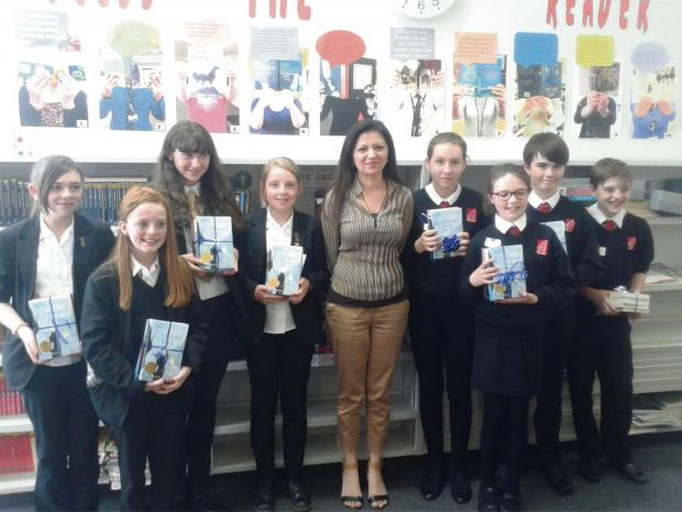 BOOK BASH: The competition winners with author Sufiya Ahmed
