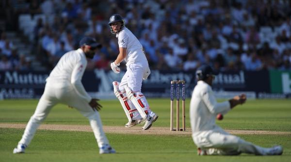 The Northern Echo: ESCAPE: Gary Ballance, the Yorkshire and England batsman, edges the ball short of the Indian slips