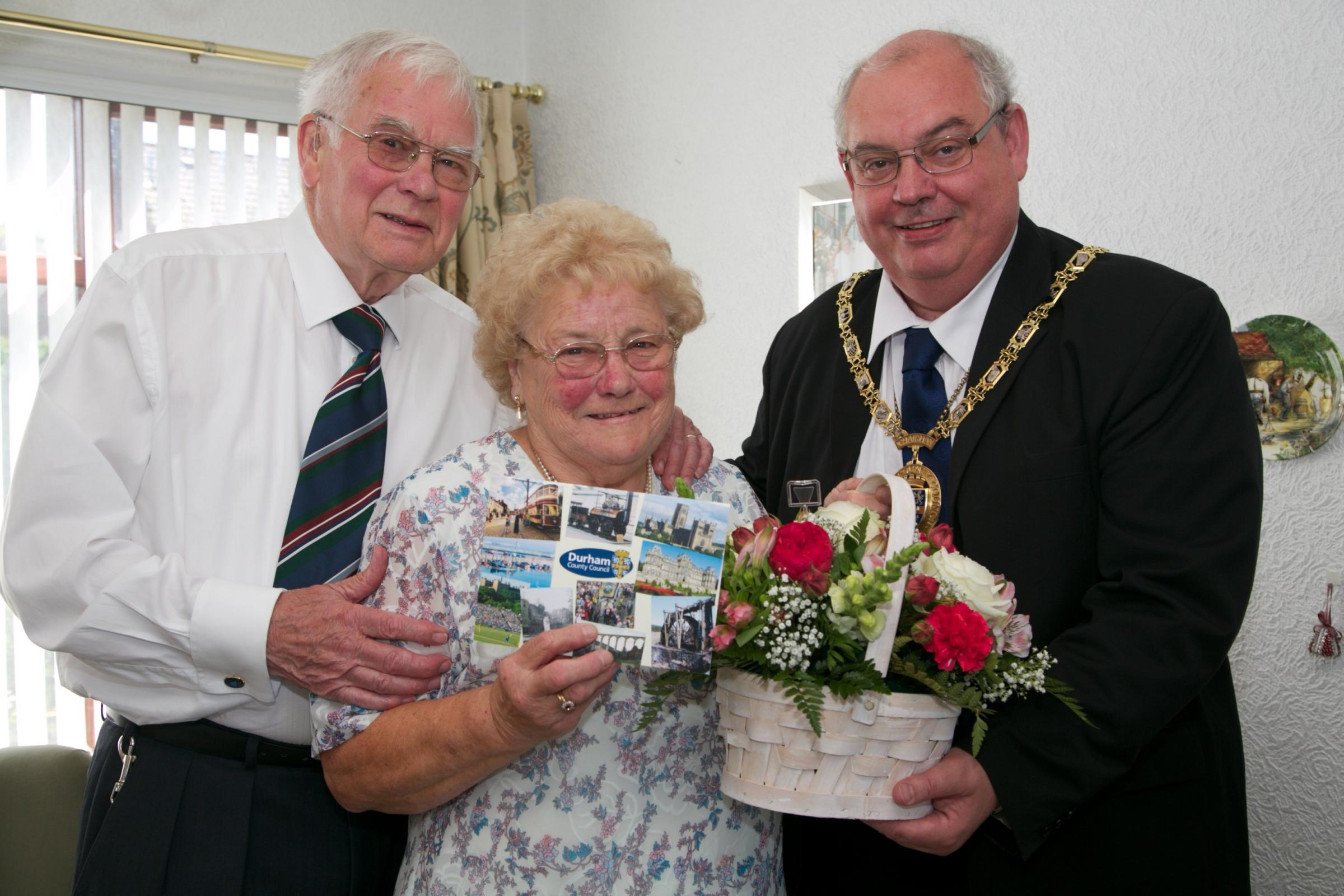 Former mayor and mayoress of Sedgefield celebrate 60 years or marital bliss