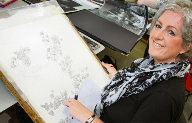 Cleveland College Art & Design mature student Julie Wilkerson, 51, of Darlington, who has been given a new lease of life through art