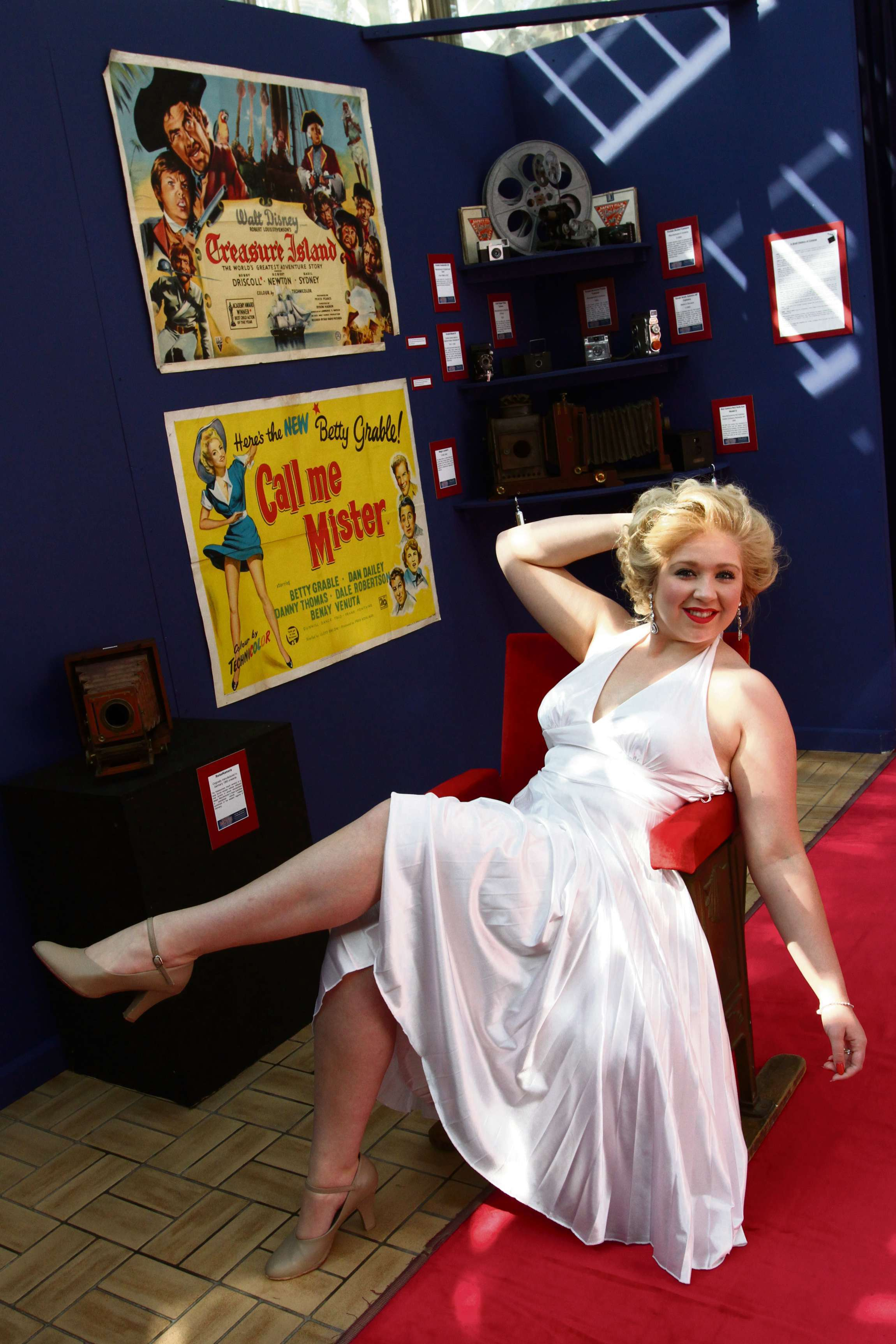 Marilyn adds touch of glamour to movie exhibition