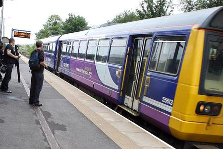 A Northern Rail train at Thornaby station.