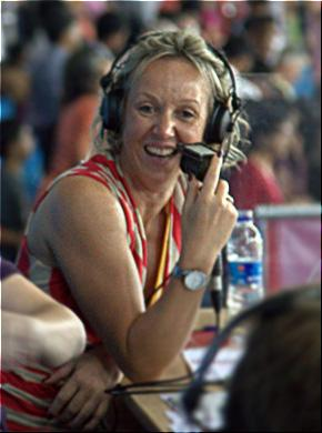 GLASGOW BOUND: Teessider Allison Curbishley will  be part of the BBC's athletics commentary team at this month's Commonwealth Games in Glasgow