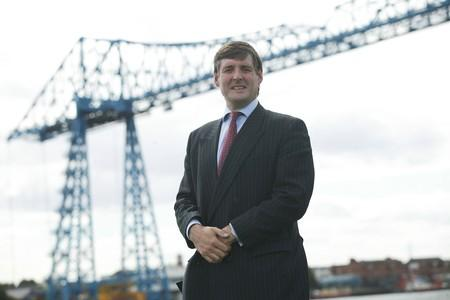 James Ramsbotham with Middlesbrough Transporter Bridge in the background