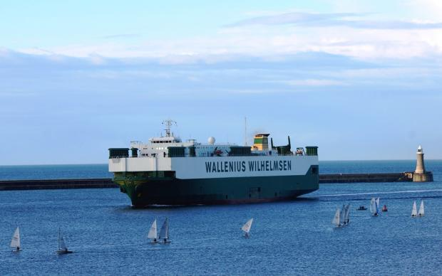 MAJOR VISITOR: The Port of Tyne welcomes the Wallenius Wilhelmsen Logistics vessel