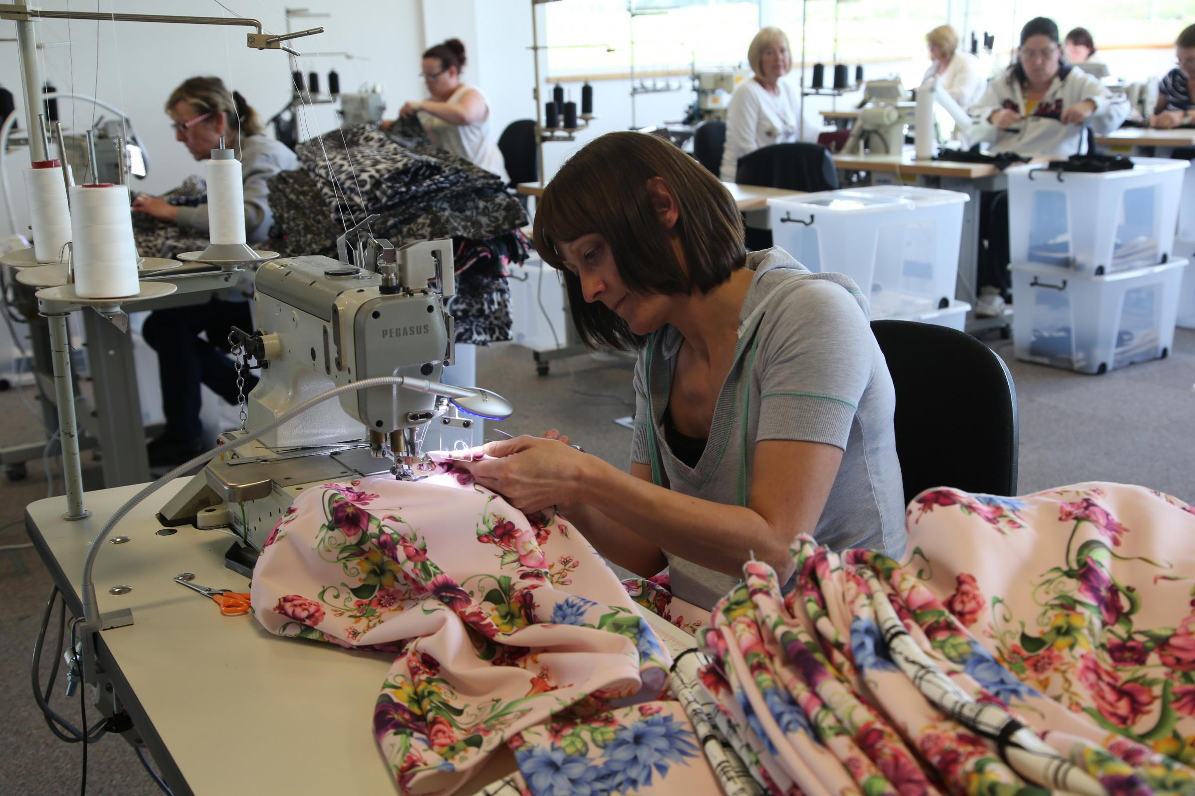 SEW BUSY: Workers at the new clothing factory AMA at Peterlee..Picture: ANDY LAMB. (1180367)