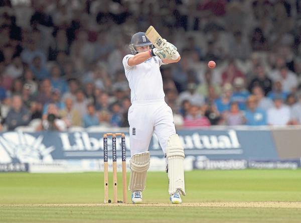 MOMENT OF MADNESS: Matt Prior, already under pressure, was out playing a hook shot and won't play again this summer