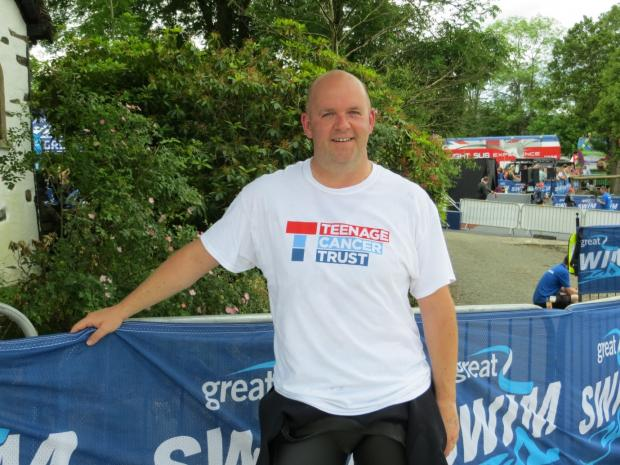 CHARITY SWIM: Teacher Paul Simpson who has completed the Great North Swim for charity.