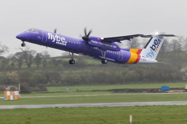 Flybe will operate a 78-seat Bombardier Q400 aircraft on the Newcastle to Exeter route