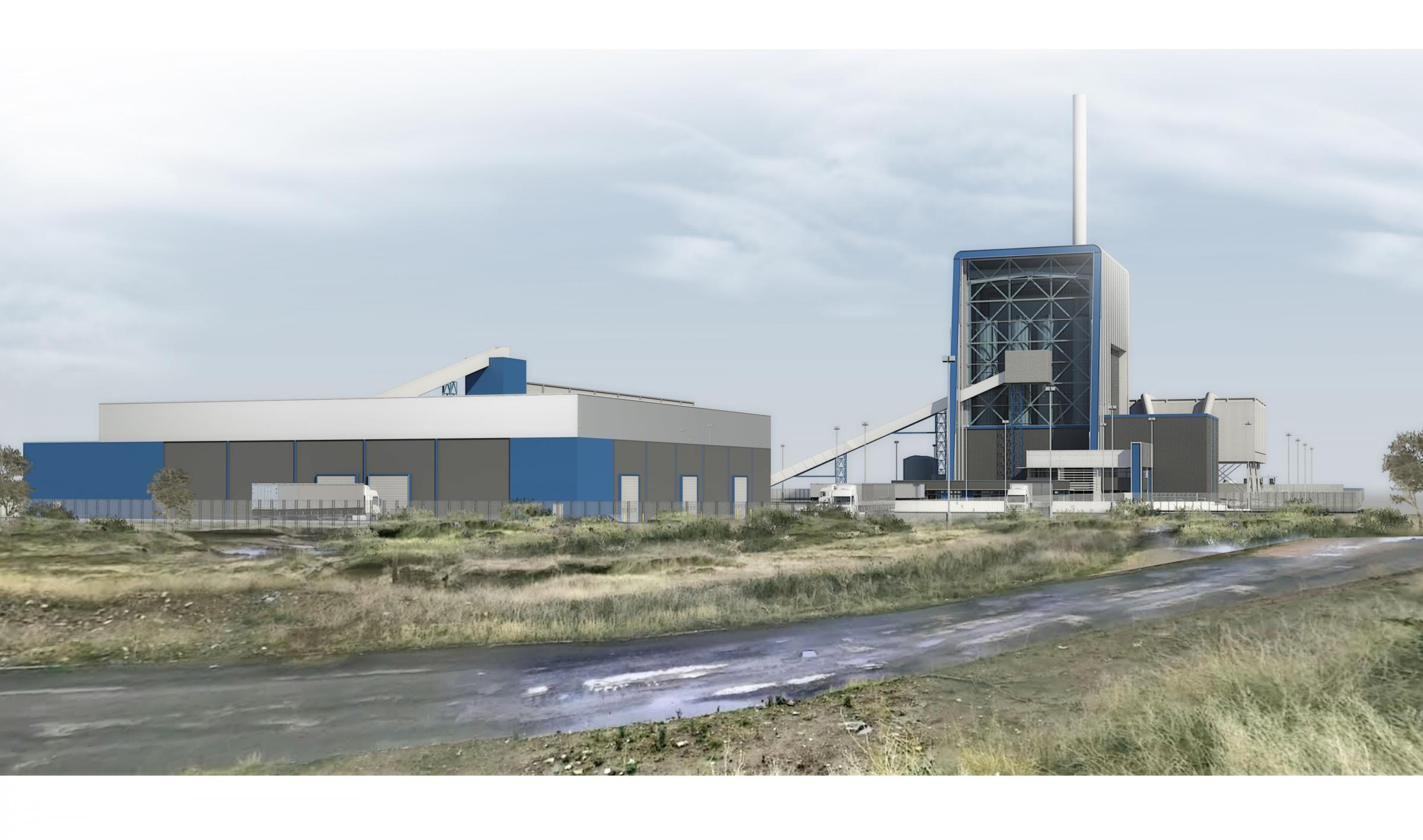 NEW BUILD: An artist's impression of the biomass plant at Port Clarence