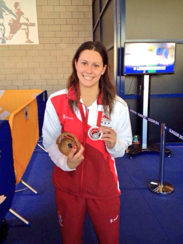 SILVER LINING: A smiling Aimee Willmott shows off her silver medal following the final of the 400m Individual Medley