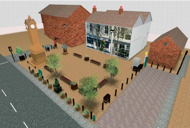 NEW LOOK: An artist's impression of the plan for Thirsk Market Place