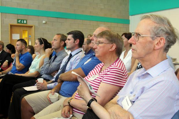 Residents listen to a presentation about the Great Aycliffe Plan at Newton Aycliffe Youth and Community Centre. PICTURE: Martin Walker.