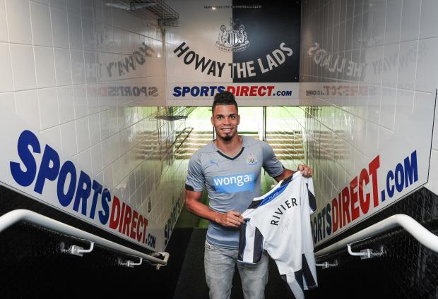 Summer signing: Emmanuel Riviere arrives from Monaco earlier this month and Newcastle would prefer one more forward