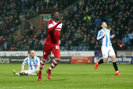 Middlesbrough's Albert Adomah celebrates scoring his sides second equalising goal (8617911)
