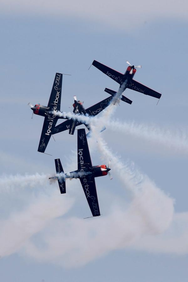 Acrobatic displays captivated the crowds at the Sunderland air show