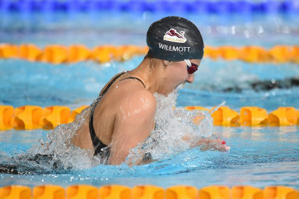 NARROW MISS: Aimee Willmott finished fourth in the 200m Individual Medley final at the Commonwealth Games