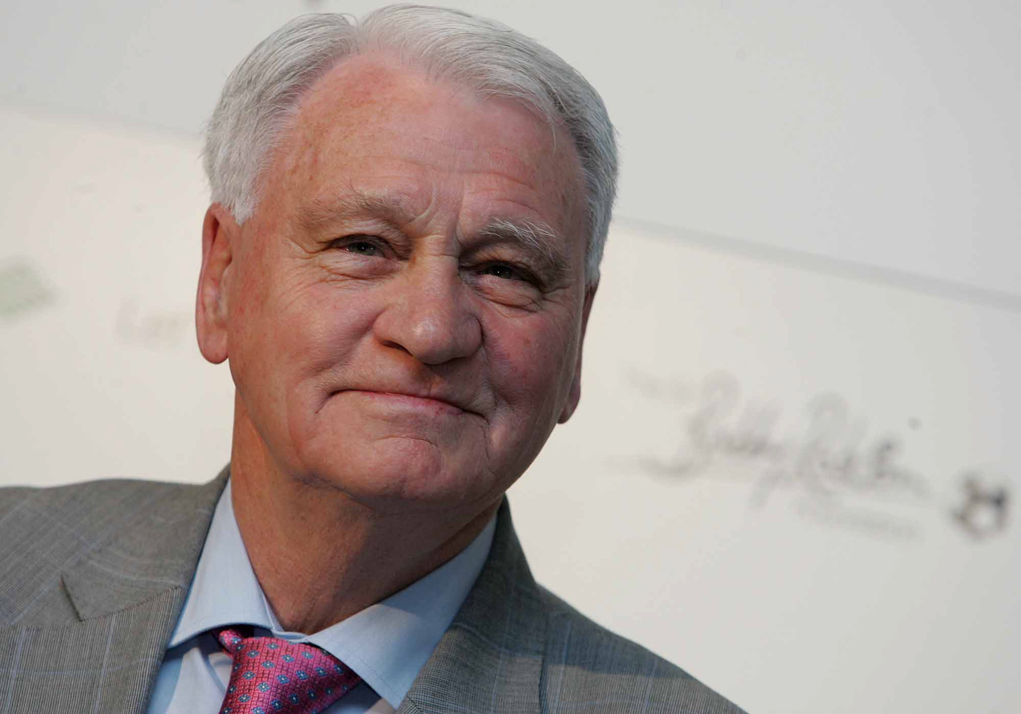 MUCH MISSED: Sir Bobby Robson, pictured at the launch of The Sir Bobby Robson Foundation in Newcastle in 2008