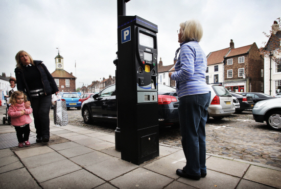 One of the new parking fee machines on Yarm High Street.