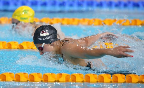 DOUBLE DELIGHT: Aimee Willmott added a 200m butterfly Commonwealth Games silver medal to the 400IM silver she won last week