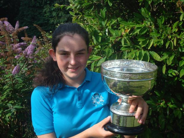 Top joy: Jessica Hall with her club championship trophy