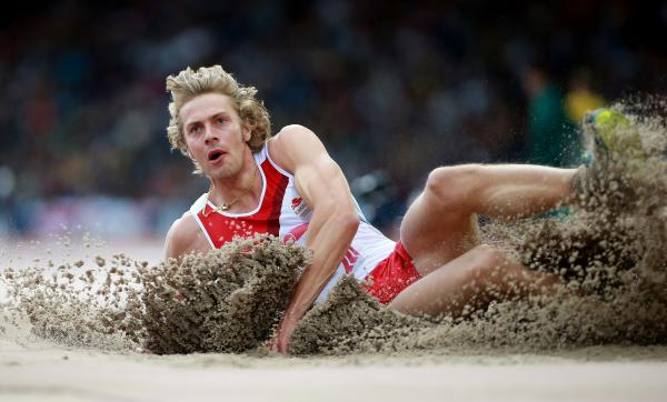 STILL AMBITIOUS: Chris Tomlinson finished fifth in the long jump final at the Commonwealth Games