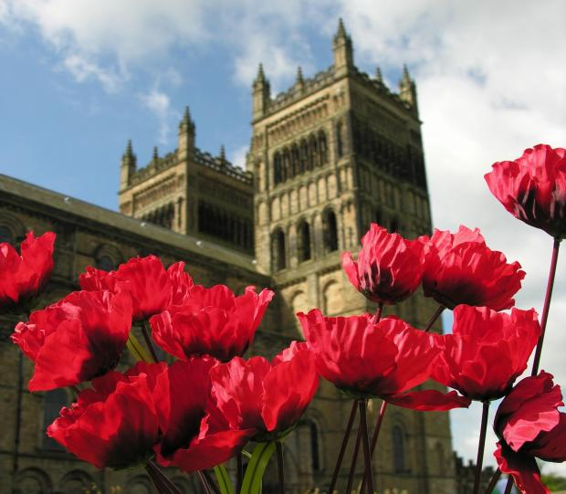 Poppies outside Durham Cathedral
