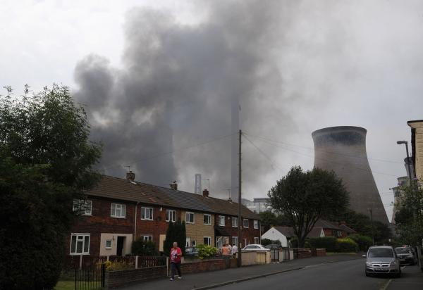 Firefighters tackle blaze at Ferrybridge Power Station