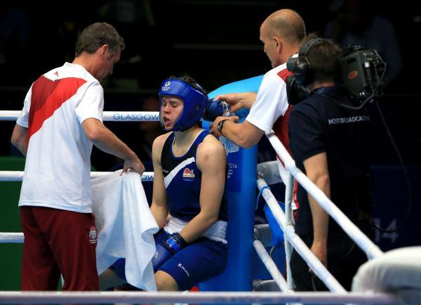 IN THE FINAL: Hartlepool's Savannah Marshall is guaranteed a gold or silver medal after winning her Commonwealth Games middleweight semi-final