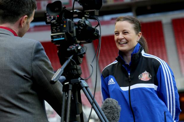 FOCUSED: Sunderland Ladies head coach Claire Robinson has urged her side, who sit two points clear at the top of WSL 2, to stay focused