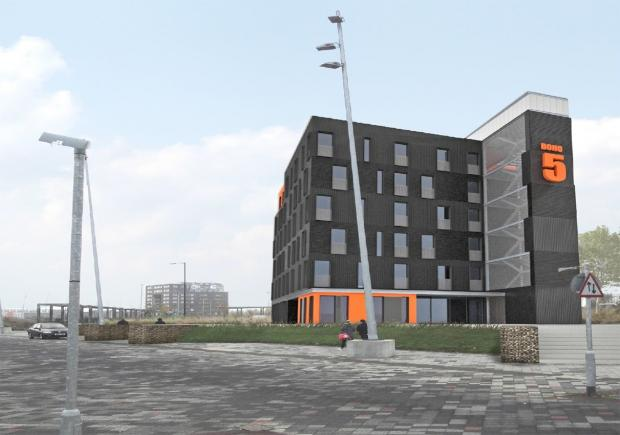 Artists' impression of the Boho Five building