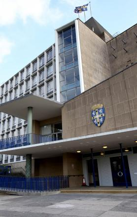 CHALLENGES AHEAD: County Hall in Durham,