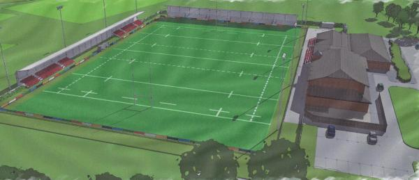 SPORTING HUB: Artist's impression of the redeveloped Blackwell Meadows ground where Darlington RFC and Darlington FC will share facilities.