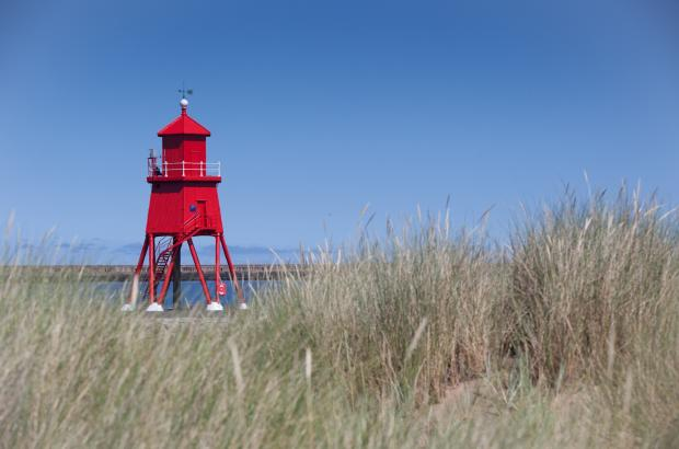 The Herd Groyne lighthouse in South Shields has been repainted.