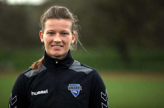 LONG TRIP: Durham captain Caroline Dixon believes her side can beat Yeovil Town to move up the WSL 2 table
