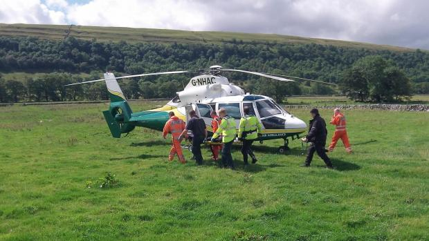 RESCUE: The crew of the Great North Air Ambulance at Litton