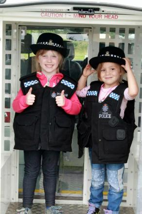 Fearne Smith, five, on the left, with Alecia Readman, four, on the right, at the fun day on Saturday. Picture by Lewis Christie