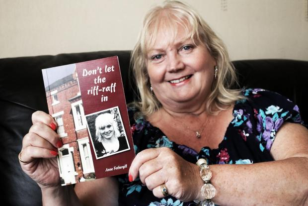 MANCHESTER MEMOIRS: Anne Fothergill with her new book 'Don't let the riff-raff in'.